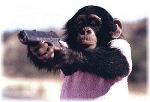 mono-con-pistola